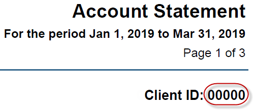 Account Statement Page 1 of 3 Client ID: 00000